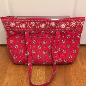 Vera Bradley Tote/travel Bag (red bandana)
